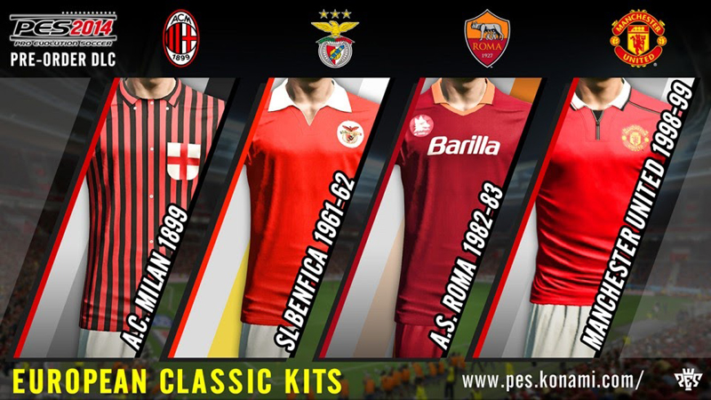 Can I download new kits for PES 2014 on my Xbox 360